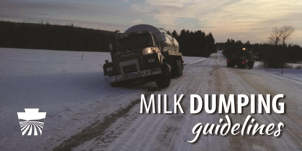 Milk Dumping Guidelines